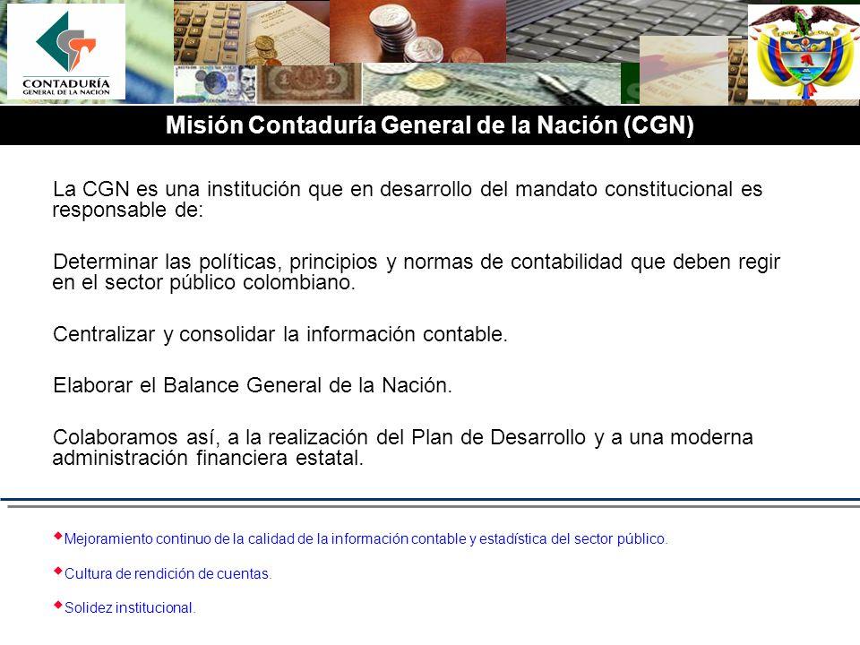 Misión Contaduría General de la Nación (CGN)