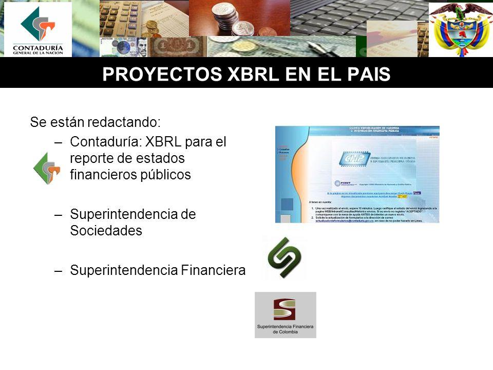 PROYECTOS XBRL EN EL PAIS