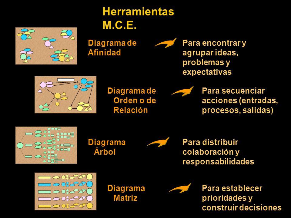 Herramientas M.C.E. Diagrama de Afinidad