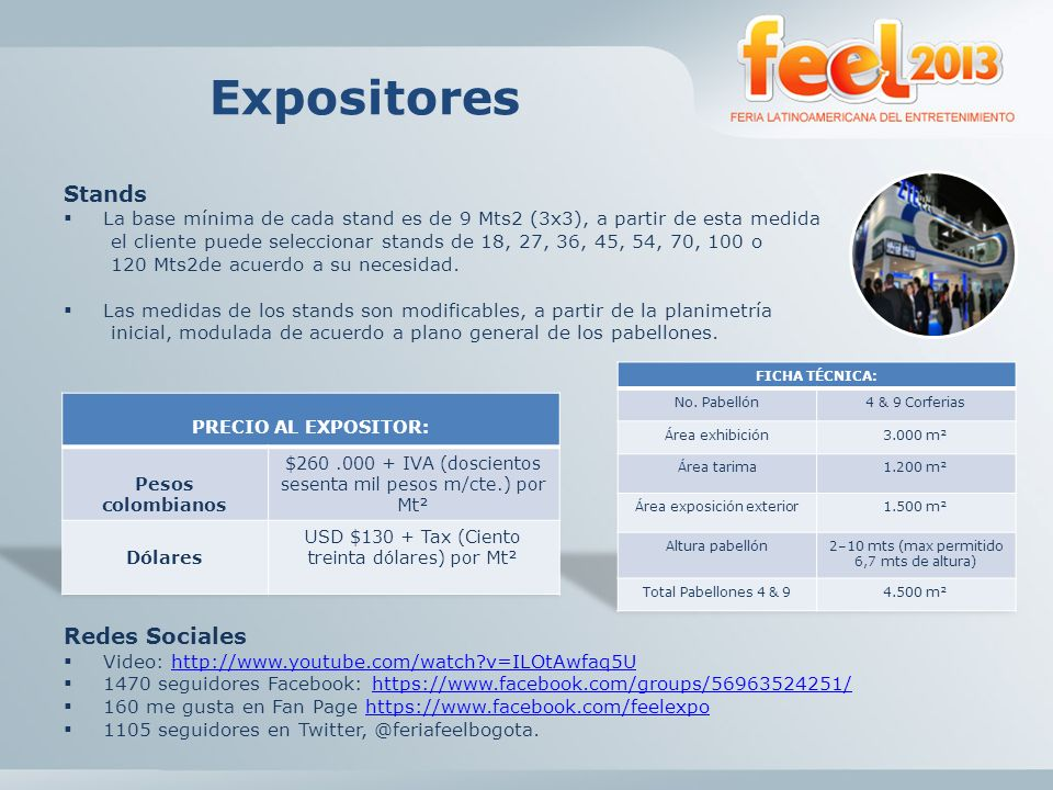 Expositores Stands Redes Sociales