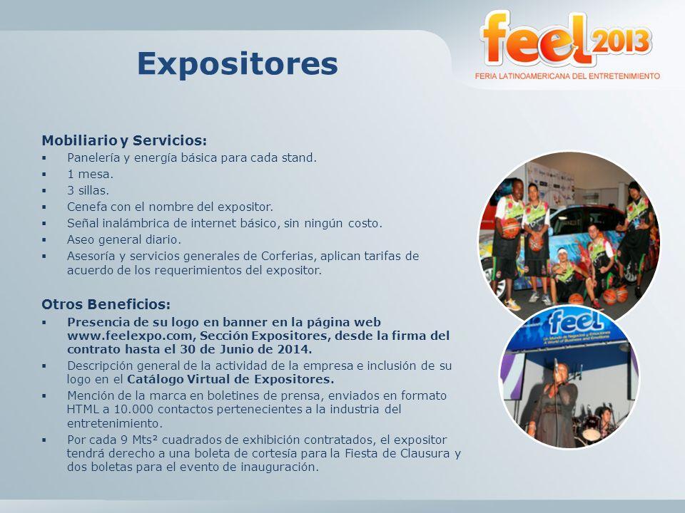 Expositores Mobiliario y Servicios: Otros Beneficios: