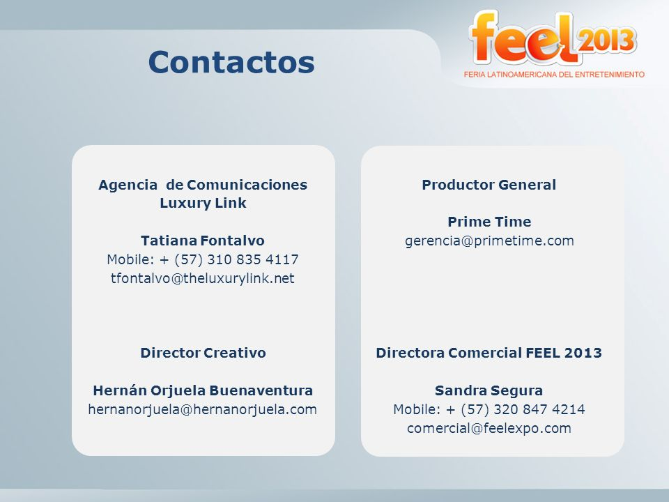 Contactos Agencia de Comunicaciones Luxury Link Tatiana Fontalvo