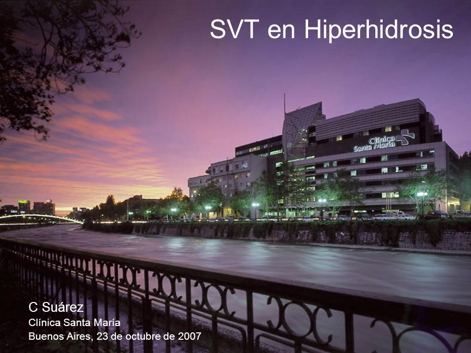 SVT en Hiperhidrosis C Suárez Clínica Santa María