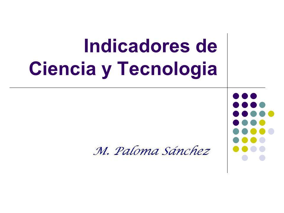 Indicadores de Ciencia y Tecnologia