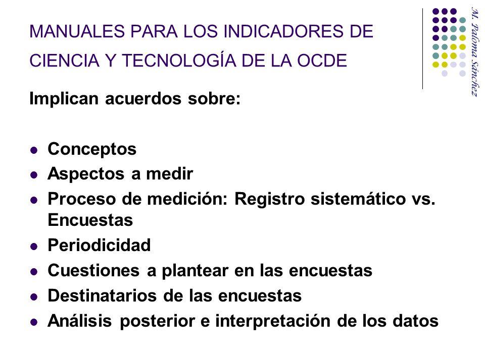 MANUALES PARA LOS INDICADORES DE CIENCIA Y TECNOLOGÍA DE LA OCDE
