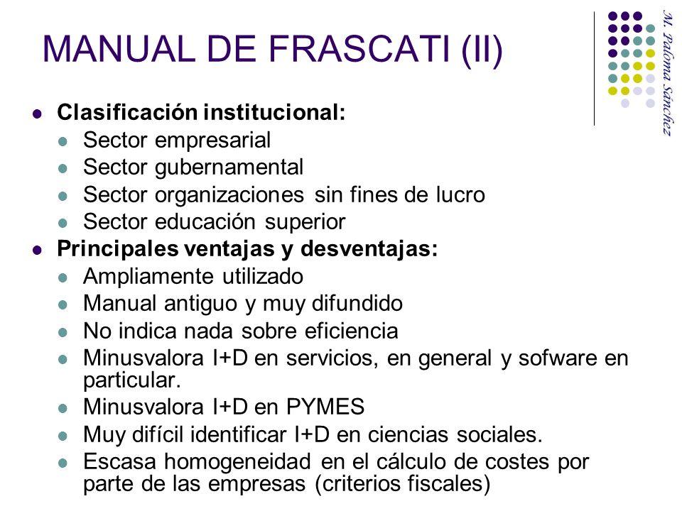 MANUAL DE FRASCATI (II)