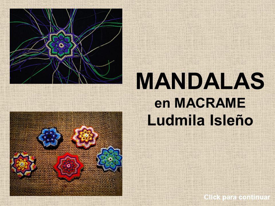 MANDALAS en MACRAME Ludmila Isleño