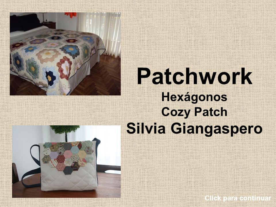 Patchwork Hexágonos Cozy Patch Silvia Giangaspero