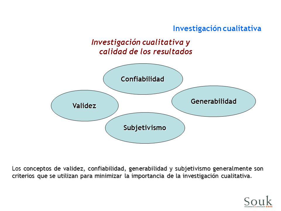 Investigación cualitativa y calidad de los resultados