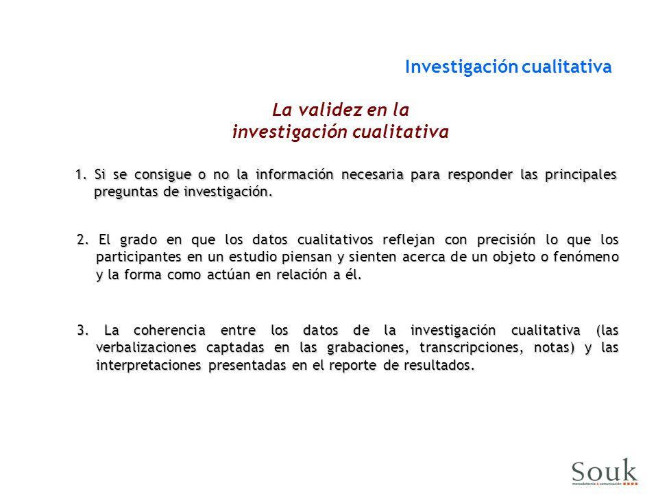 La validez en la investigación cualitativa