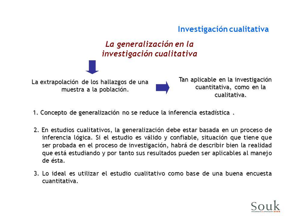 La generalización en la investigación cualitativa
