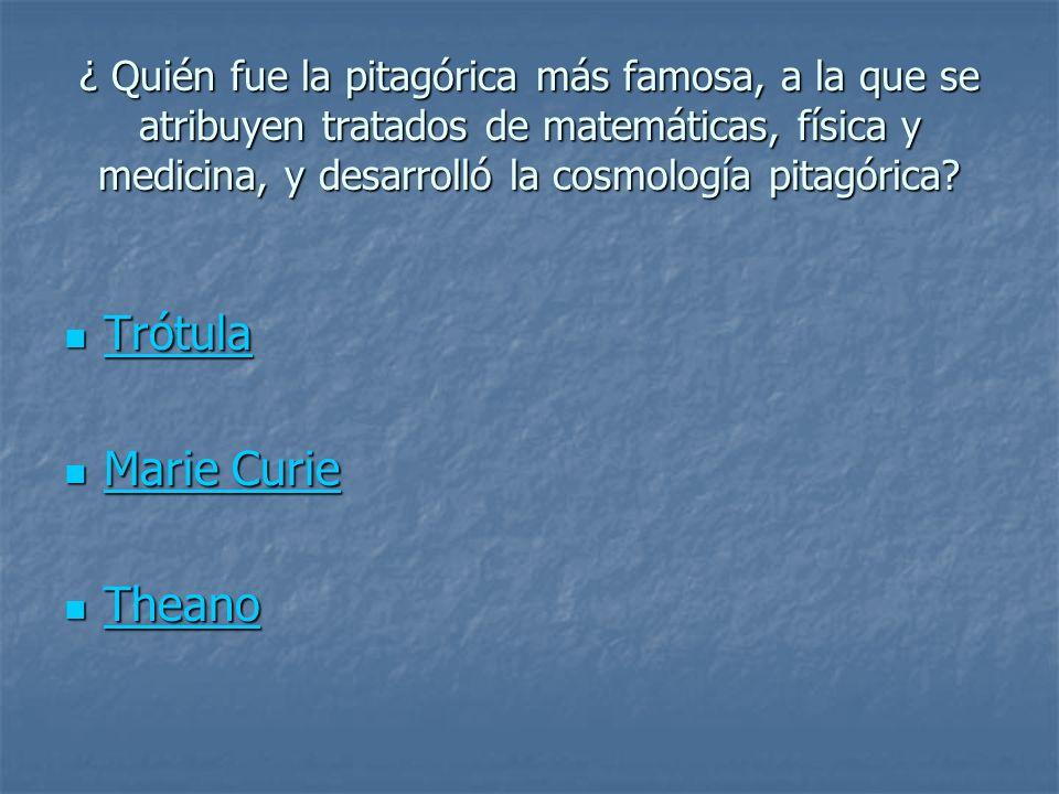 Trótula Marie Curie Theano