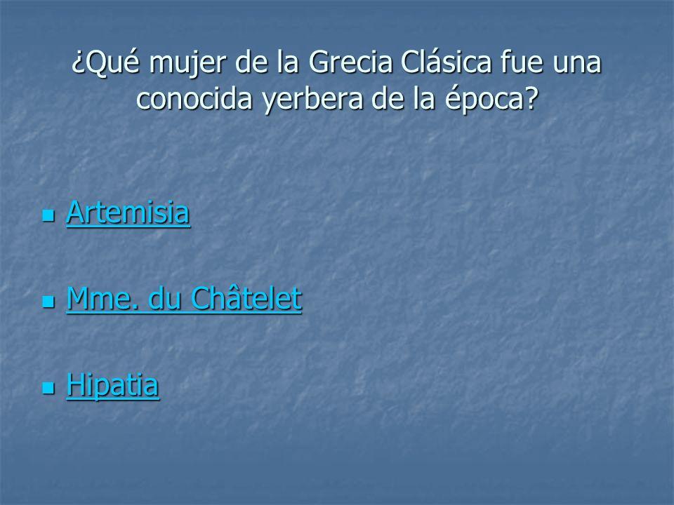 ¿Qué mujer de la Grecia Clásica fue una conocida yerbera de la época