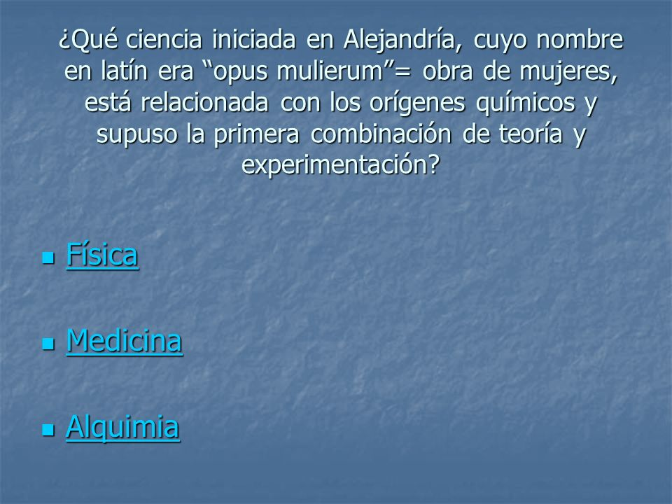 Física Medicina Alquimia
