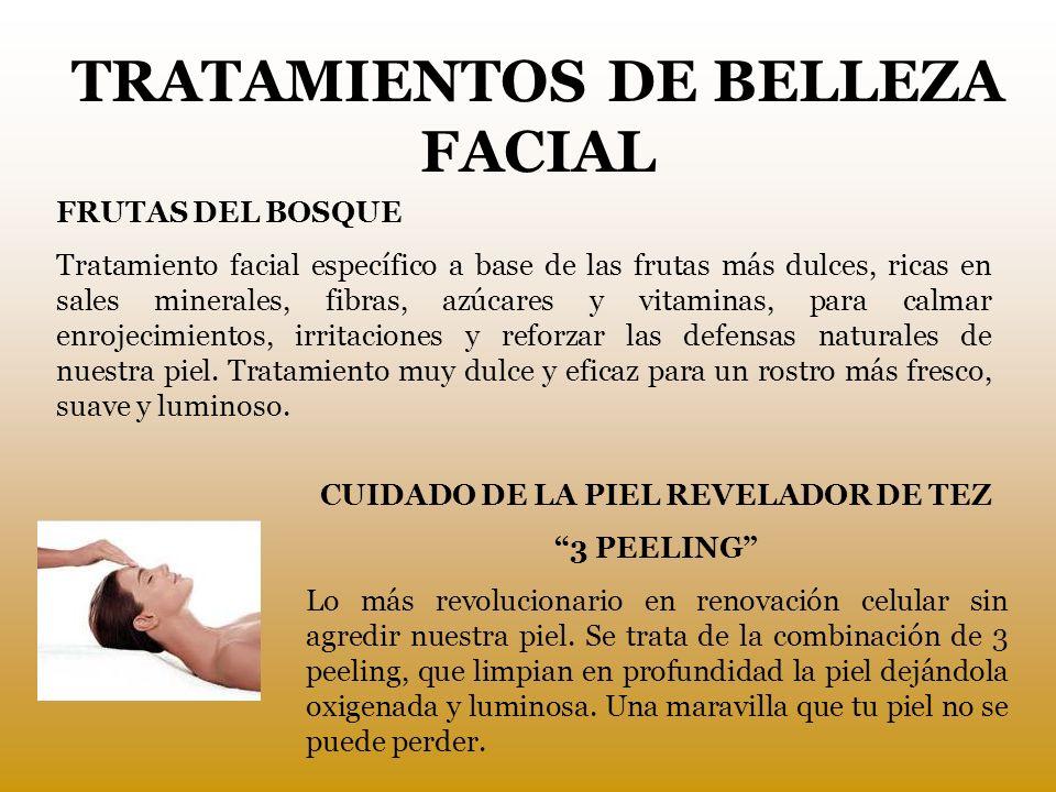 TRATAMIENTOS DE BELLEZA FACIAL CUIDADO DE LA PIEL REVELADOR DE TEZ