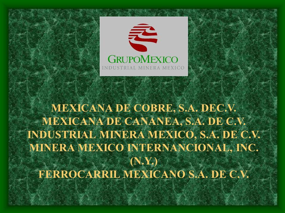 MEXICANA DE COBRE, S.A. DEC.V. MEXICANA DE CANANEA, S.A. DE C.V.