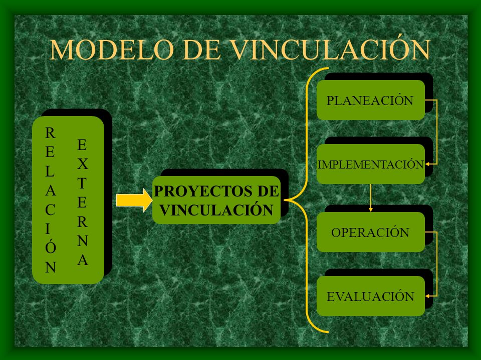 MODELO DE VINCULACIÓN RELACIÓN EXTERNA PROYECTOS DE VINCULACIÓN