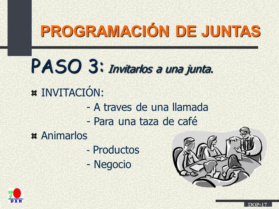 PASO 3: Invitarlos a una junta.