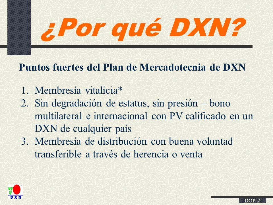 Puntos fuertes del Plan de Mercadotecnia de DXN
