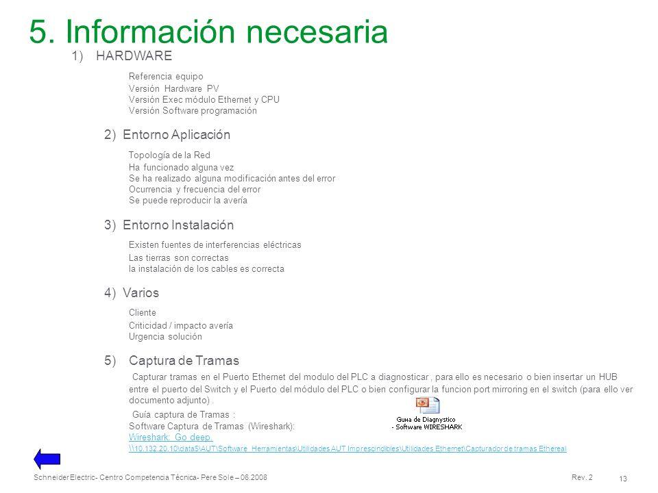 5. Información necesaria