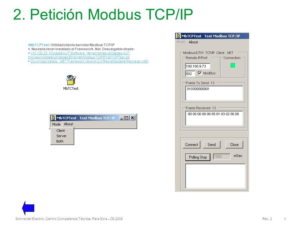 2. Petición Modbus TCP/IP