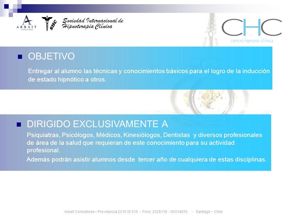 DIRIGIDO EXCLUSIVAMENTE A