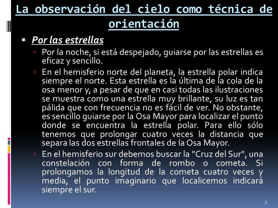 La observación del cielo como técnica de orientación