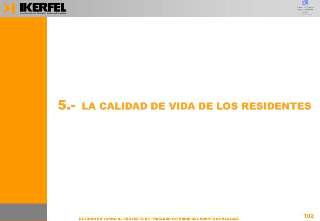 5.- LA CALIDAD DE VIDA DE LOS RESIDENTES