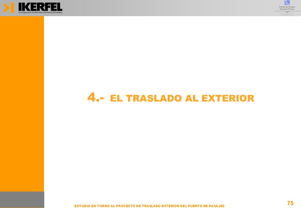 4.- EL TRASLADO AL EXTERIOR