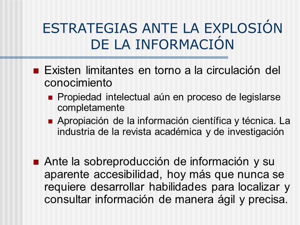 ESTRATEGIAS ANTE LA EXPLOSIÓN DE LA INFORMACIÓN