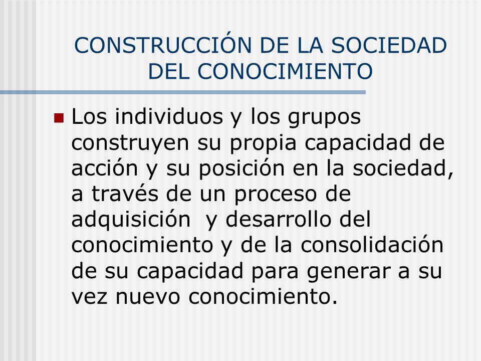 CONSTRUCCIÓN DE LA SOCIEDAD DEL CONOCIMIENTO