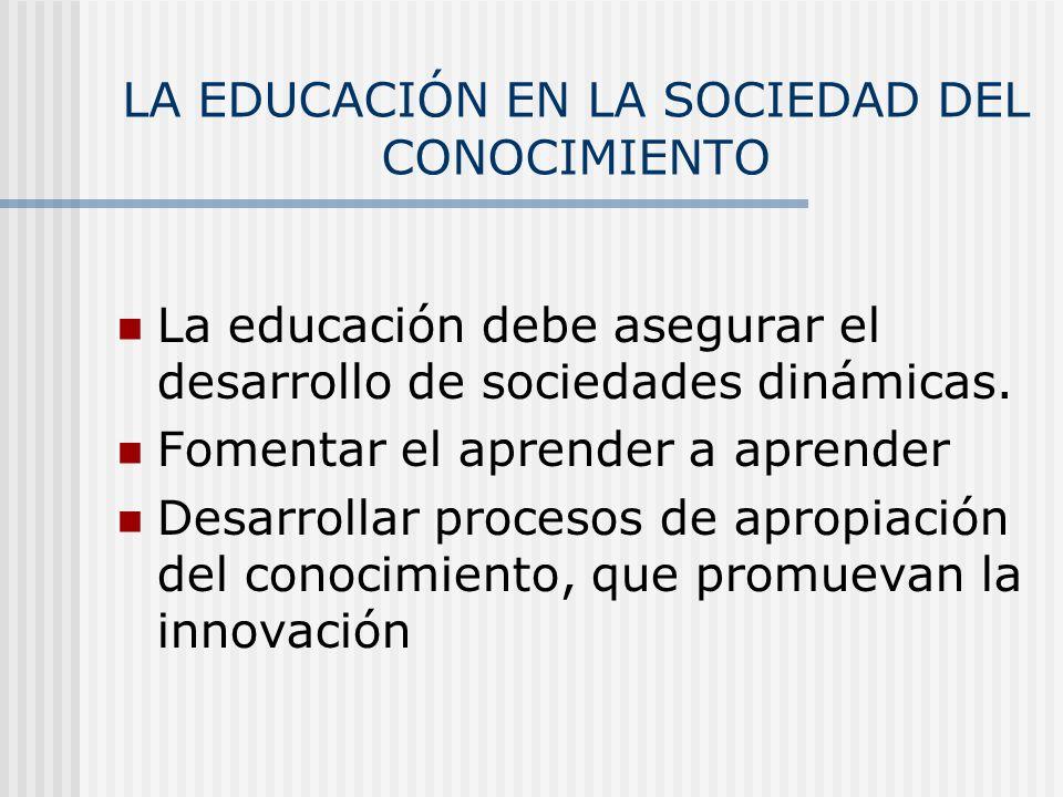 LA EDUCACIÓN EN LA SOCIEDAD DEL CONOCIMIENTO