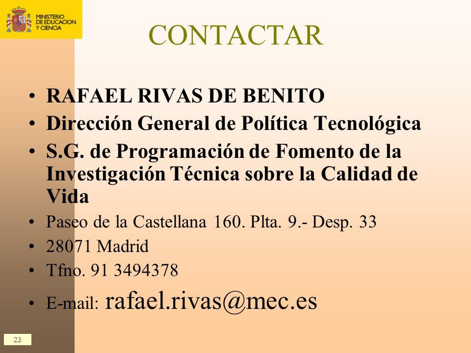 CONTACTAR RAFAEL RIVAS DE BENITO