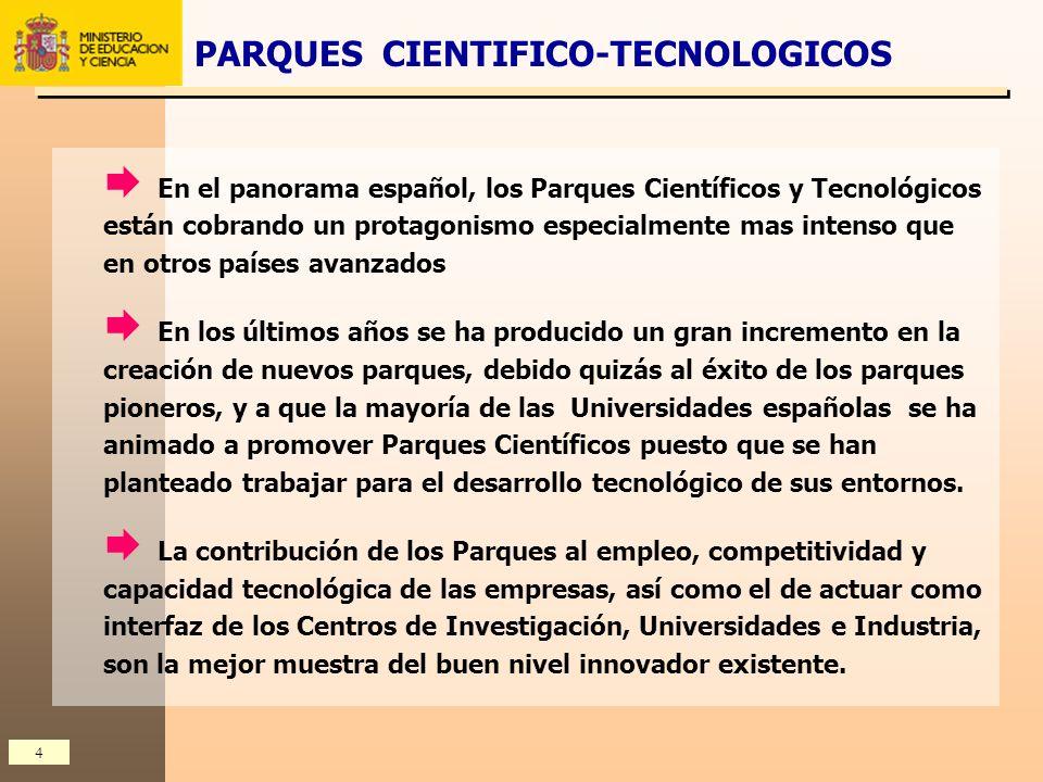 PARQUES CIENTIFICO-TECNOLOGICOS