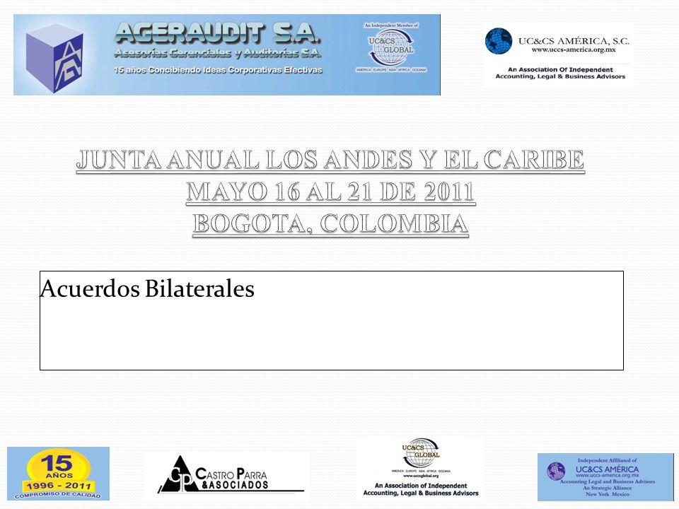 JUNTA ANUAL LOS ANDES Y EL CARIBE MAYO 16 AL 21 DE 2011 BOGOTA, COLOMBIA
