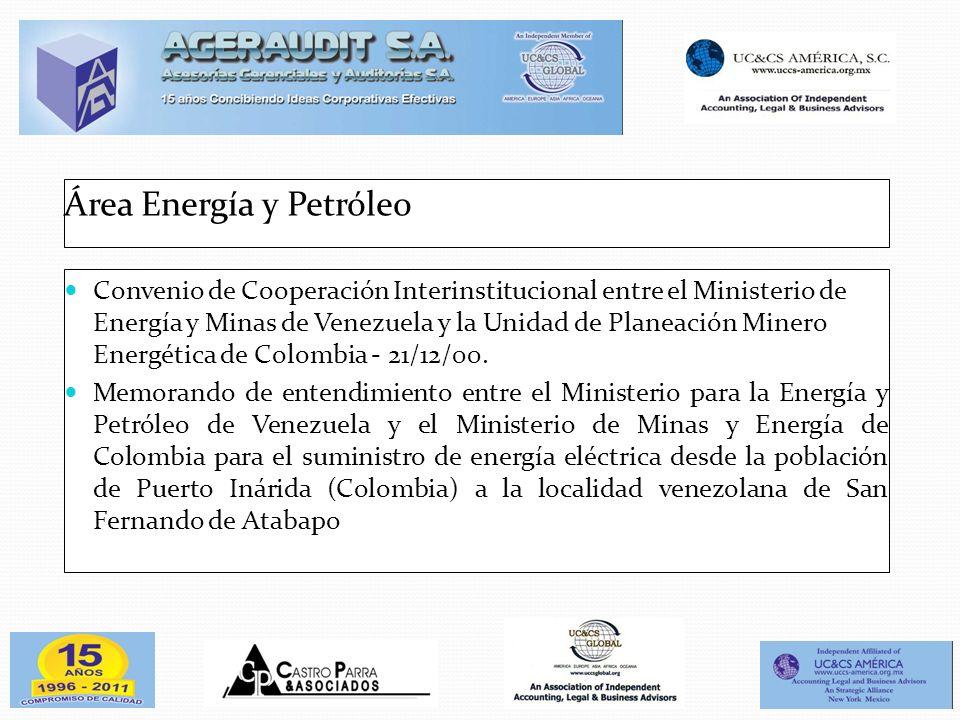 Área Energía y Petróleo