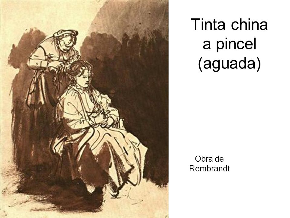 Tinta china a pincel (aguada)