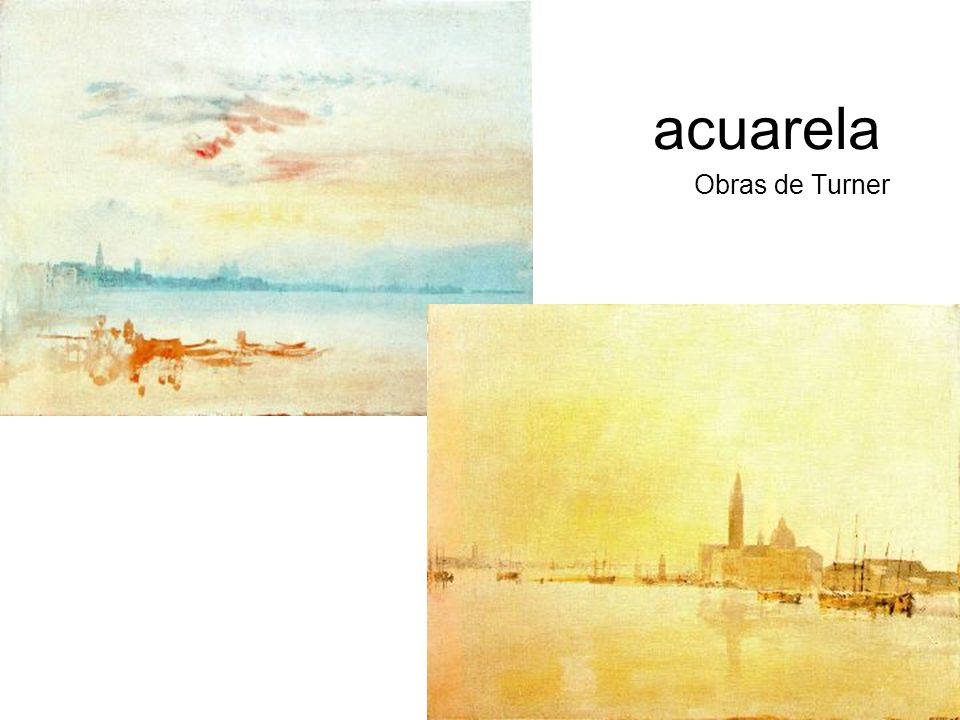 acuarela Obras de Turner