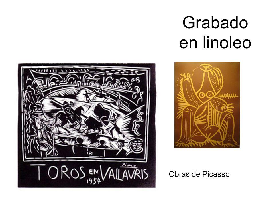 Grabado en linoleo Obras de Picasso
