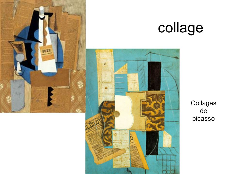 collage Collages de picasso