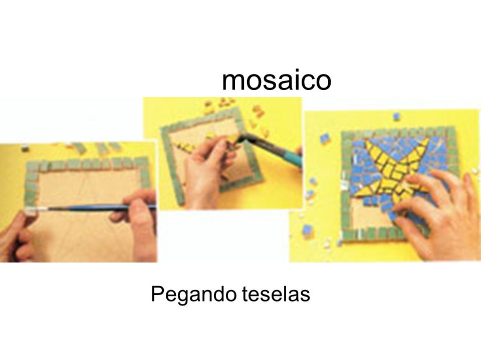 mosaico Pegando teselas