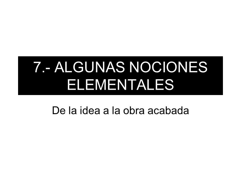7.- ALGUNAS NOCIONES ELEMENTALES