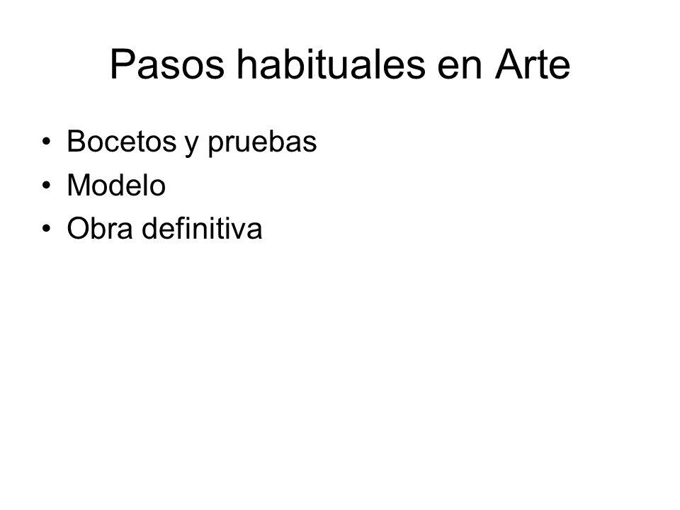 Pasos habituales en Arte
