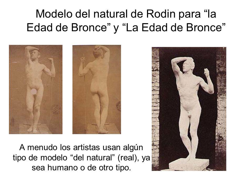 Modelo del natural de Rodin para la Edad de Bronce y La Edad de Bronce