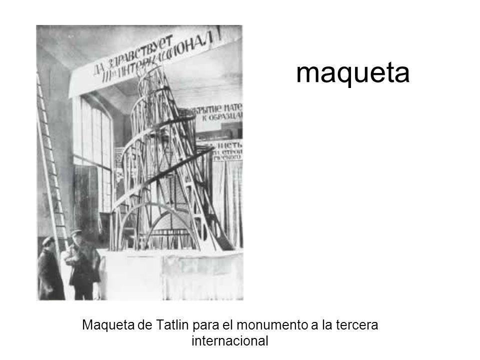Maqueta de Tatlin para el monumento a la tercera internacional