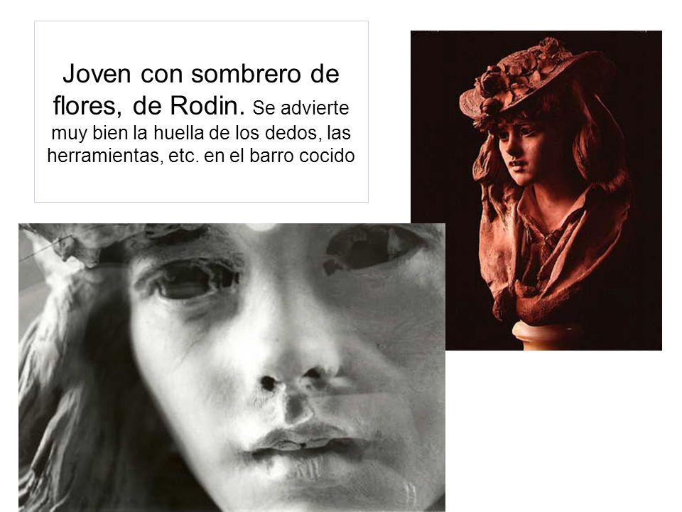 Joven con sombrero de flores, de Rodin