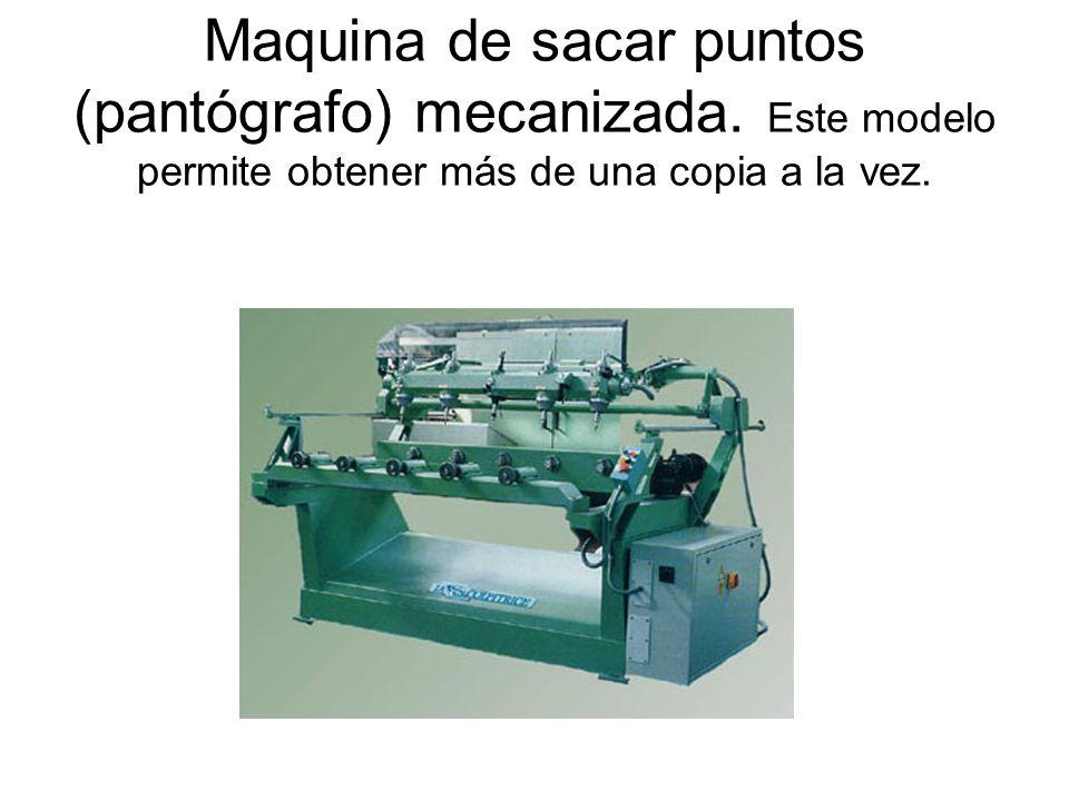 Maquina de sacar puntos (pantógrafo) mecanizada