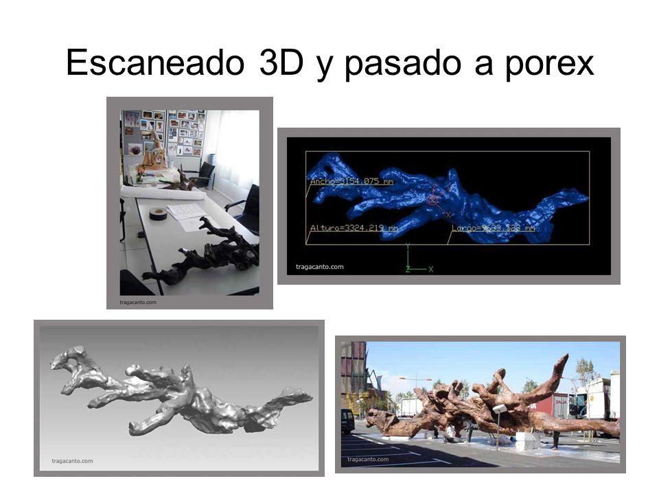 Escaneado 3D y pasado a porex