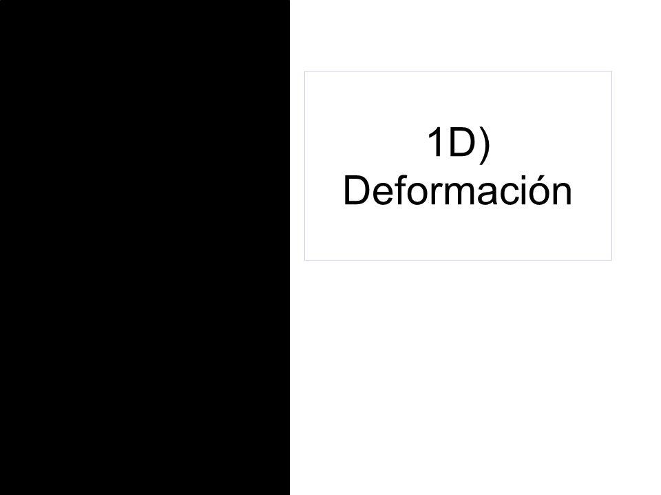 1D) Deformación