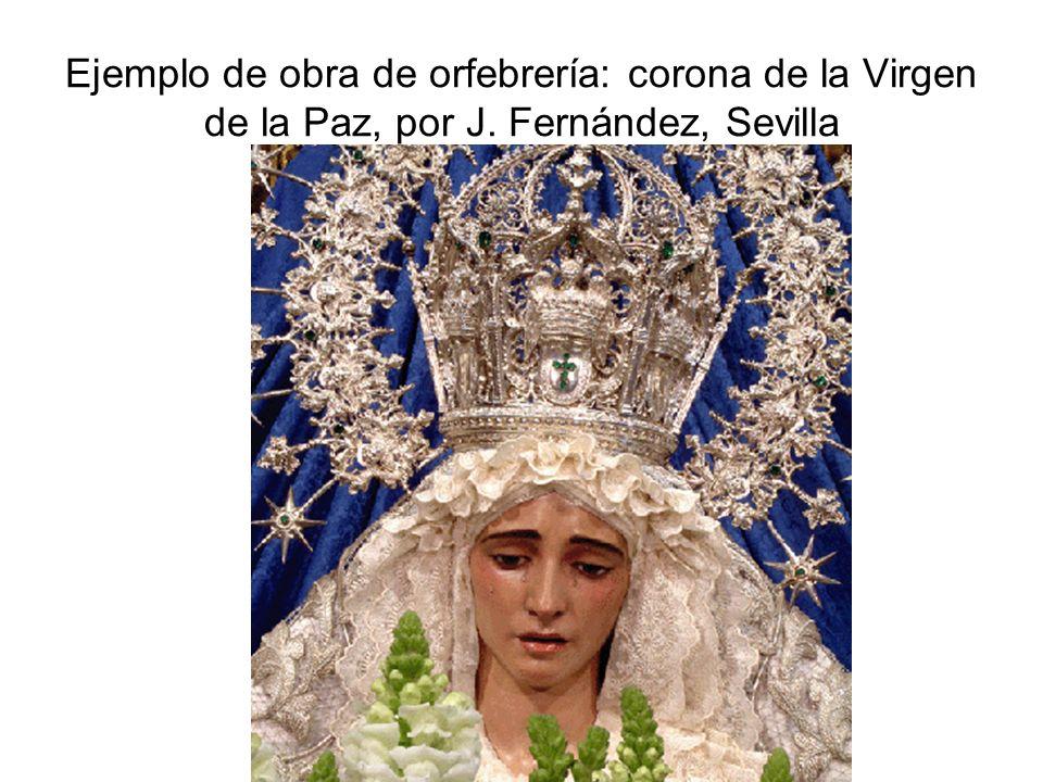 Ejemplo de obra de orfebrería: corona de la Virgen de la Paz, por J